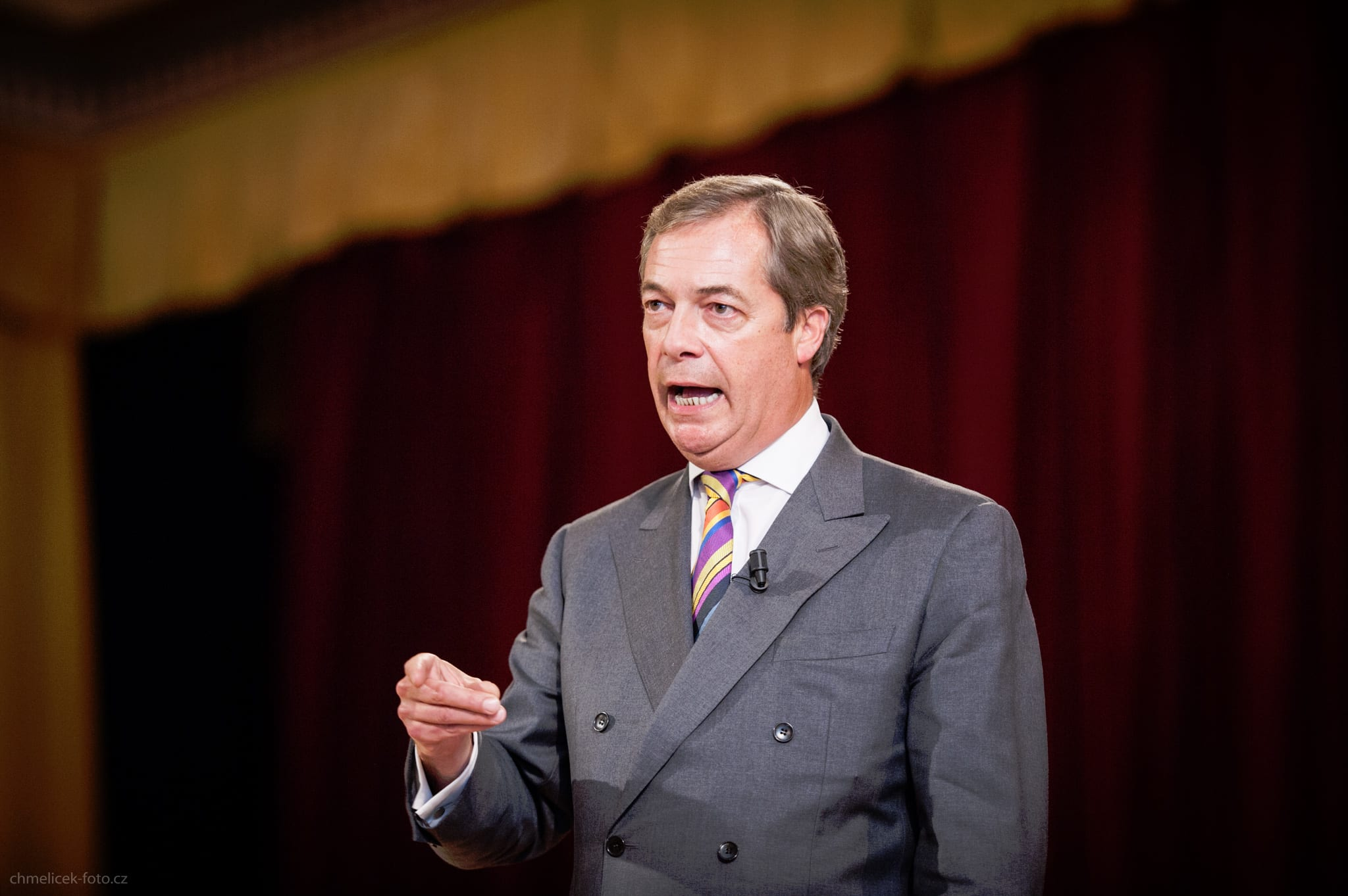 Nigel Farage na konferenci Svobodných