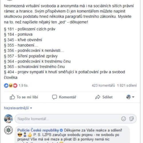 Otevřený dopis příslušníkům Policie ČR