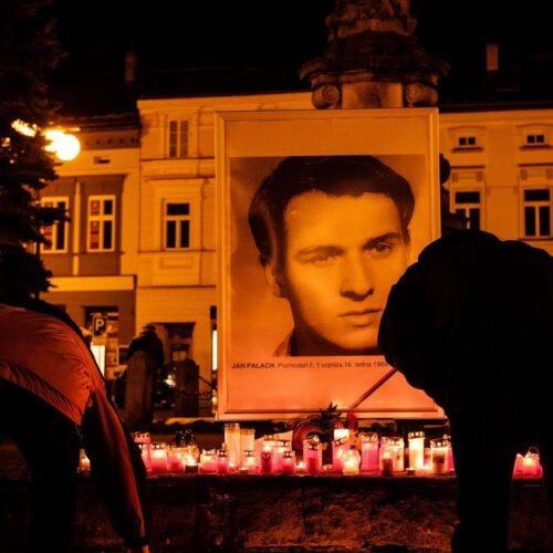 Svobodní uctili památku Jana Palacha