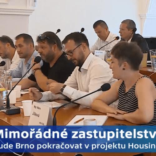 Česká televize: Mimořádné zastupitelstvo Brno-střed k projektu Housing First
