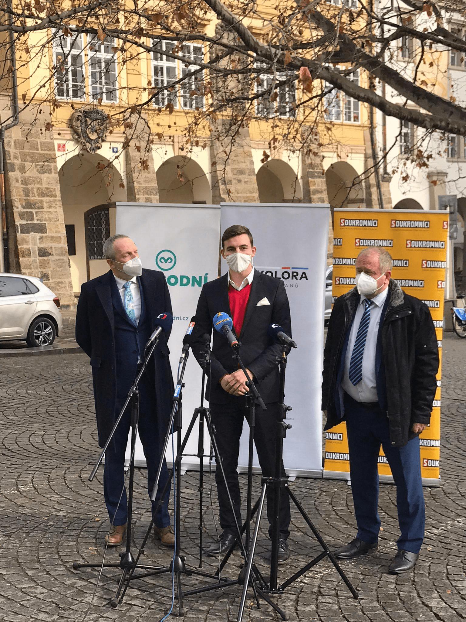 Libor Vondráček k oznámení spolupráce Trikolory, Svobodných a SoukromnÍku